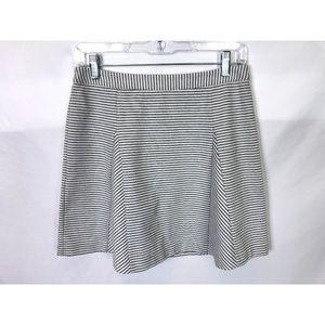 Michael Kors Gray Striped A-Line Skirt Size 2